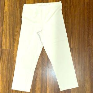White Capri legging